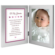 Gift for Godmother from Goddaughter - Sweet Poem in Attached Double Frames - Add Photo