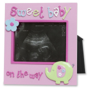 Baby girl sonogram photo frame