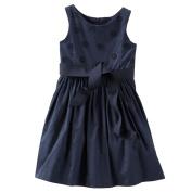 OshKosh Girl's 2-Pc. Fancy Free Dress, Navy Blue, 24m