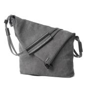 LINGTOM Casual Vintage Hobo Canvas Cross Body Messenger Bags Large Capacity Weekend Travel Shoulder Bag
