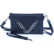 U-TIMES Women's PU Leather Crossbody Shoulder Bag Phone Wallet Pouch Wrist Clutch with Rivet