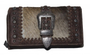 Montana West - Modernly Western Cow Hair Wallet - Coffee