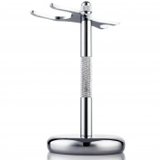 Perfecto Deluxe Chrome Razor and Brush Stand - The Best Safety Razor Stand Shaver Holder