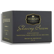 Hirsh Luxury Shaving Cream Unscented Essential Oil 240ml Sensitive Skin Formulation