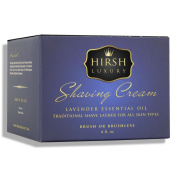 Hirsh Luxury Shaving Cream Lavender Essential Oil 240ml