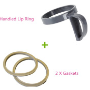 1 PC NutriBullet Handled Lip Ring + 2 PC Gaskets Replacement Parts
