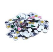 Drhob 3MM-15MM 500 Pieces Round Wiggle Googly Eyes with Self-adhesive DIY Scrapbooking Crafts Toy Accessories