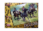 HAT 9009 NAPOLEONIC FRENCH DRAGOONS 1/32 SCALE. 8 Mounted Plastic Toy Soldiers
