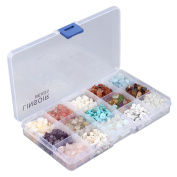 Linsoir Beads® 15 Style DIY Assorted Chips Stone Crushed Chunked Crystal Pieces Irregular Shaped Loose Beads Upgraded Value Pack for Jewellery Making