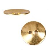 16mm 22kt Gold Round Button, 10 pieces