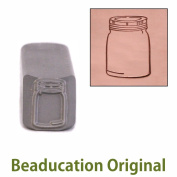 Mason Jar Metal Design Stamp- Beaducation Original