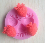 Strawberry 3d Silicone Soap Mould,fondant Candle Moulds,sugar Craft Tools, Chocolate Moulds