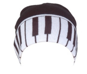 Knitting Wool Piano Keys Design Cap