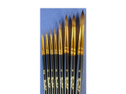 KOLINSKY SABLE Professional Artists' Round Paint Brushes short handle 1115 Russian Roubloff (5