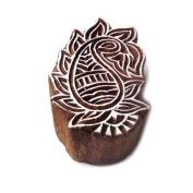 Designer Wavy Flower Pattern Wood Stamp for Printing