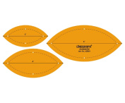 Marquise Quilting Patchwork Shape Scale Template Set of 3 Pcs