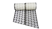 1.9cm Diameter 500 Pcs(250 Pairs) White Round Dot Coin Straps Self Adhestive Hook And Loop Strips With Waterproof Sticky Back Fastener
