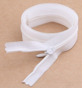 20pieces White Nylon Invisible Zipper Sewing 60cm Sewing Zippers Z35