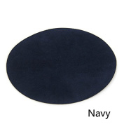 Repair Patches - 4 PCS Elbow Knee Velvet Iron-on Patches, Round & Navy - by Beaulegan