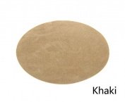 Repair Patches - 4 PCS Elbow Knee Velvet Iron-on Patches, Round & Khaki- by Beaulegan