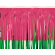 Victory Corps Cerise & Grass Green 2-Colour Vinyl Fringe