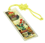 Silver J Bookmark, mother of pearl with hand knotted tassel, handmade oriental gift, New Book shelf.