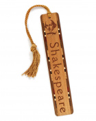 Poet - Playwright - William Shakespeare Engraved Wooden Bookmark with Tassel
