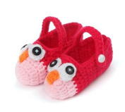 FuzzyGreen® Cute Owl Baby Newborn Infant Girl Boy Hand Knitting Crochet Pre Walker Toddler Buckle Shoes Socks Booties-Pattern 3