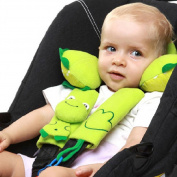 Rorychen Baby Car Shoulder Pad Pram Stroller Seat Belt Strap Cover With Pacifier Teether Holder