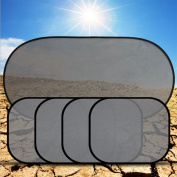 CreaTion® Easy Stick Window Sun Shade Easy to Stick & Remove Sunshade for Car Window, Calming Kids & Pets--5 PCS