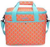 MIER 18L Large Soft Cooler Picnic Bag Portable Women Lunch Box Carrier, Bright Orange Colour
