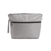7 A.M. ENFANT Clutch Bag, Heather Grey, Large