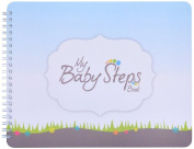 "NEW! Baby First Year Memory Book for 2 moms LGBT Family. ""Baby Steps"" (TM), Poly Cover Hand Made. Memory keeper record book and journal for Boy or Girl. 19cm x 24cm - Great Shower Gift"