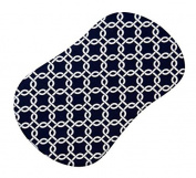 SheetWorld Fitted Bassinet Sheet (Fits Halo Bassinet Swivel Sleeper) - Navy Links - Made In USA