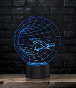 Unique Night Light Plane Time Tunnel 7 Colour LED Does Not Get Hot By rainbolights Ideal In A Nursery or bedroom a Great Gift Idea