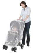 Stroller with Weather Protector and Carrier Netting, White Net