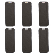 ALVABABY 5-Layer Charcoal Bamboo Inserts Reusable Liners for Cloth Nappies 6PCS 6ZTN