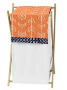 Baby Children Kids Clothes Laundry Hamper for Orange and Navy Blue Arrow Bedding Set