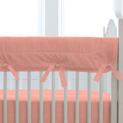 Carousel Designs Solid Light Coral Crib Rail Cover