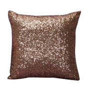 Laimeng Solid Colour Glitter Sequins Throw Pillow Case