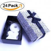 Aistore Cute Mini 24 Pieces Soap for Wedding Soap Favours and Gifts or Baby Shower Soap Favours,XO Style