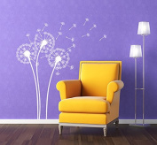PopDecors - Dandelions White - Beautiful Tree Wall Decals for Kids Rooms Teen Girls Boys Wallpaper Murals Sticker Wall Stickers Nursery Decor Nursery Decals PT-0102-WHT
