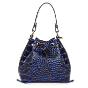 YANXI Women PU Crocodile Leather Shoulder Tote Bag