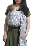 Vlokup Wrap Original 100% Cotton Adjustable Baby Carrier Infant Lightly Padded Ring Sling Cloud