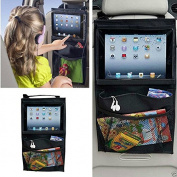 Yosoo Black Car Back Seat Tablet Multi-Pocket Organiser Touch Screen Ipad Case Sleeve Pouch Holder Storage Bag