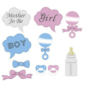Vulna(TM) BS#S Hot 10Pcs Gifts Photo Booth Props DIY Bottle Baby Shower