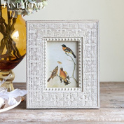 ZQQ Handmade classic solid wood picture frame retro table