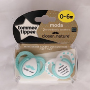 Closer To Nature Moda Soother Twin Pack - 0-6m