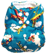 "All In One (AIO) One Size Cloth Nappy ""Stunt Fliers"""
