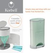Korbell Nappy Disposal Bin - Standard 16 litre - Mint Green